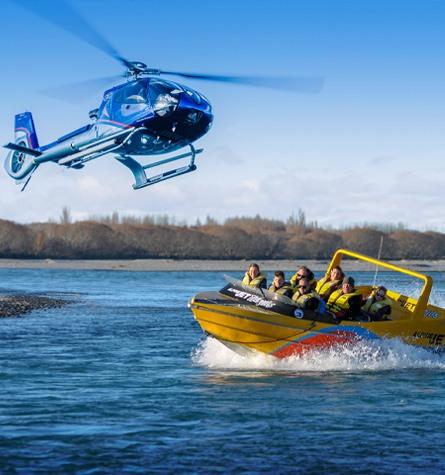 Waimakariri Heli-Jet Boat Trip