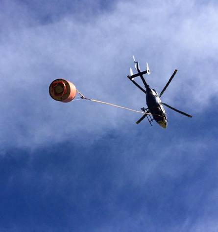 Aerial Water Sluicing